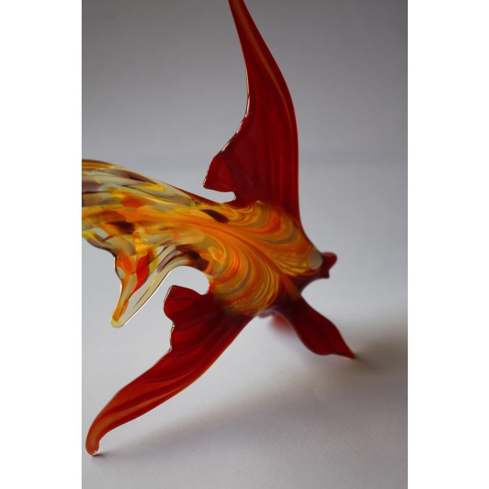 Aquarium Decor Style Hand Blown Glass Fish Figurine Miniature Animal Sculpture
