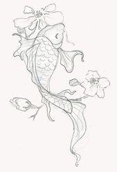 Photo of 110 Beste japanische Koi-Fisch-Tattoo-Designs und Zeichnungen – Best Tattoos referenz #flower…