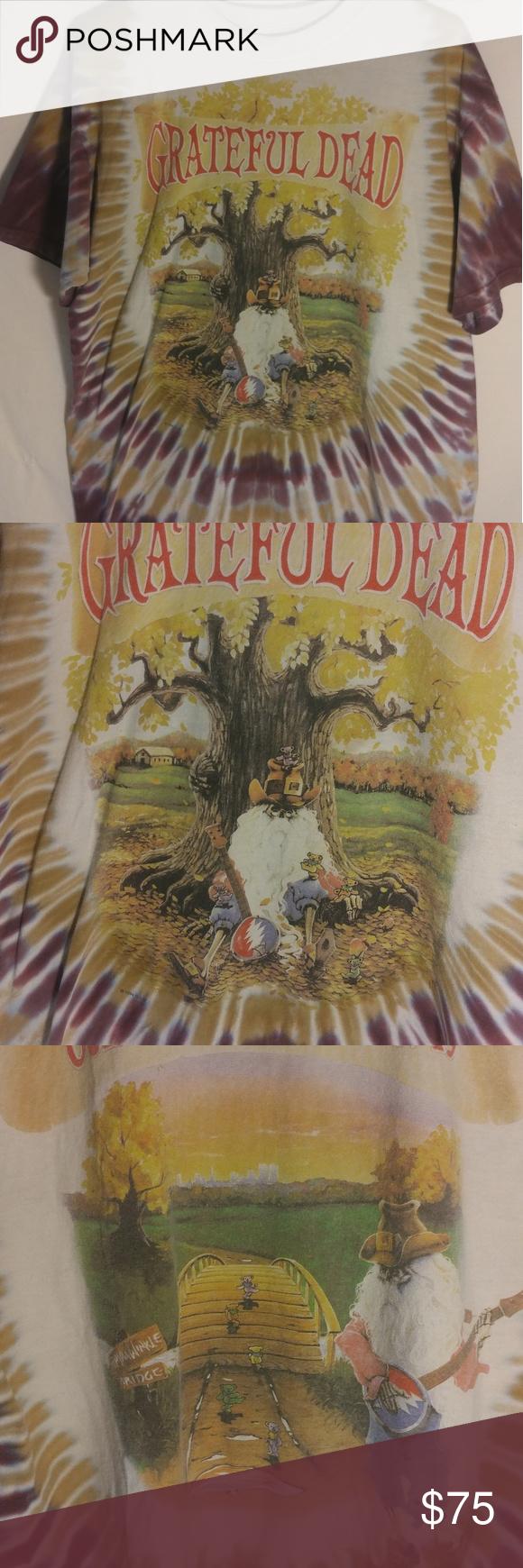 1994 Grateful Dead MSG Men\'s L Tshirt Tie Dye | Grateful dead ...