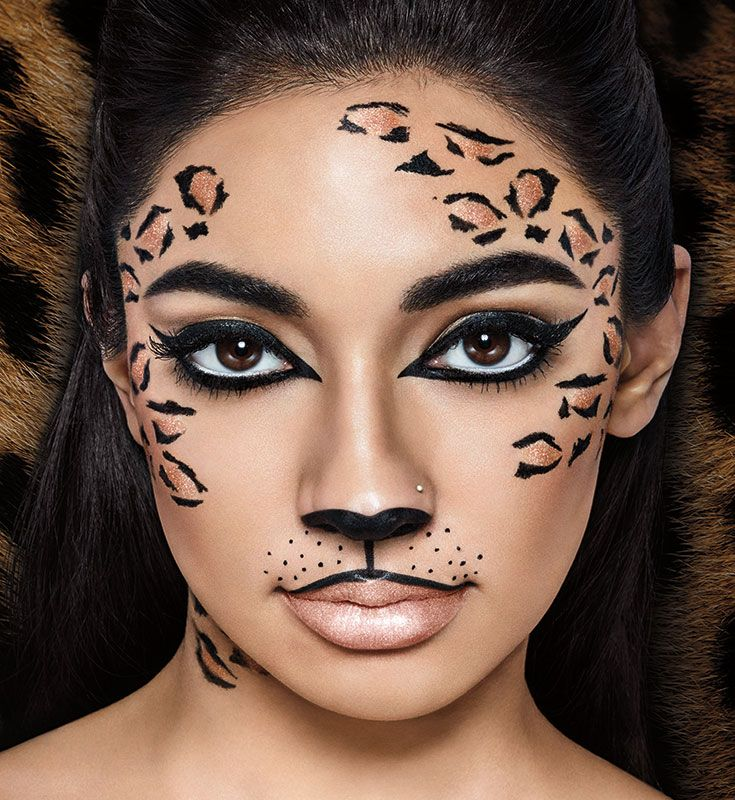 Learn how to do wild cat makeup, perfect for leopard