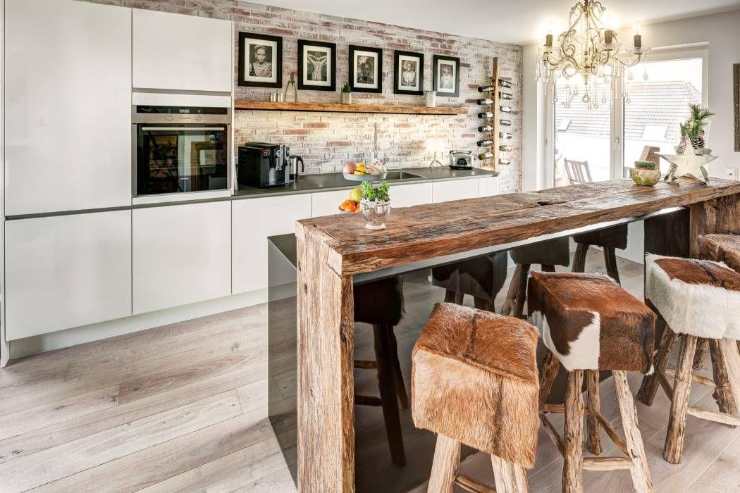 moderne küche bilder: küche modern und altholztheke | doors, Hause deko