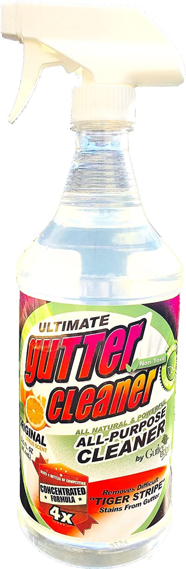 Ultimate Gutter Cleaner Gutter Stain Remover Citrus Scented 32 Ounces In 2020 Cleaning Gutters Gutter Cleaning Tool Gutter Cleaner