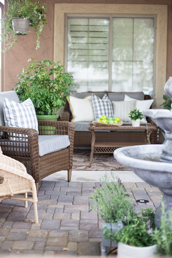 French inspired courtyard design ideas the home depot for French style courtyard ideas
