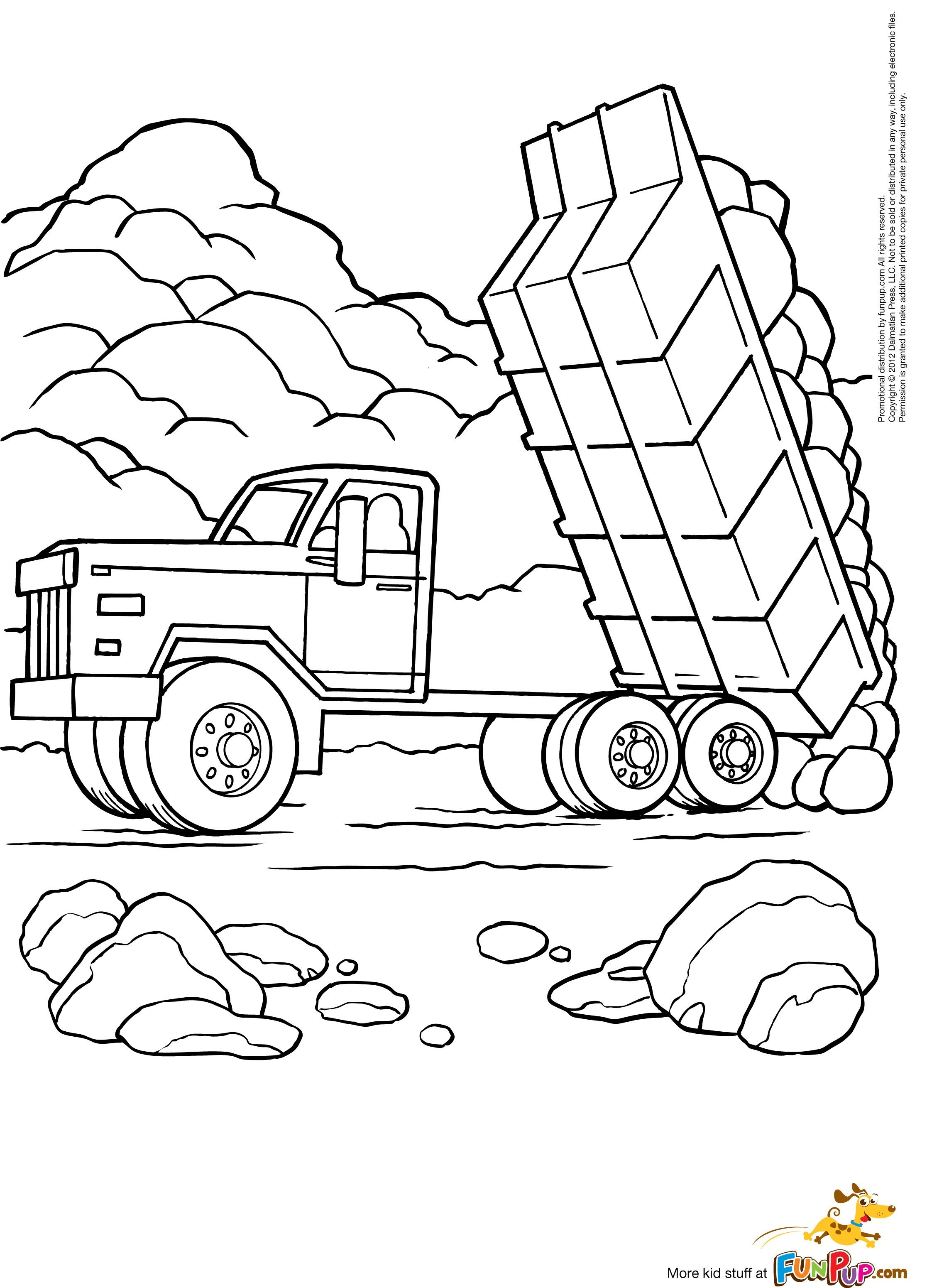 Excavator coloring pages Araba
