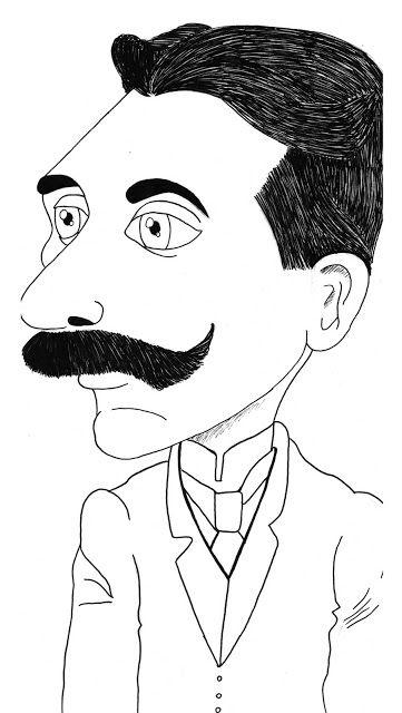 Caricaturas de escritores brasileiros  Euclides da Cunha