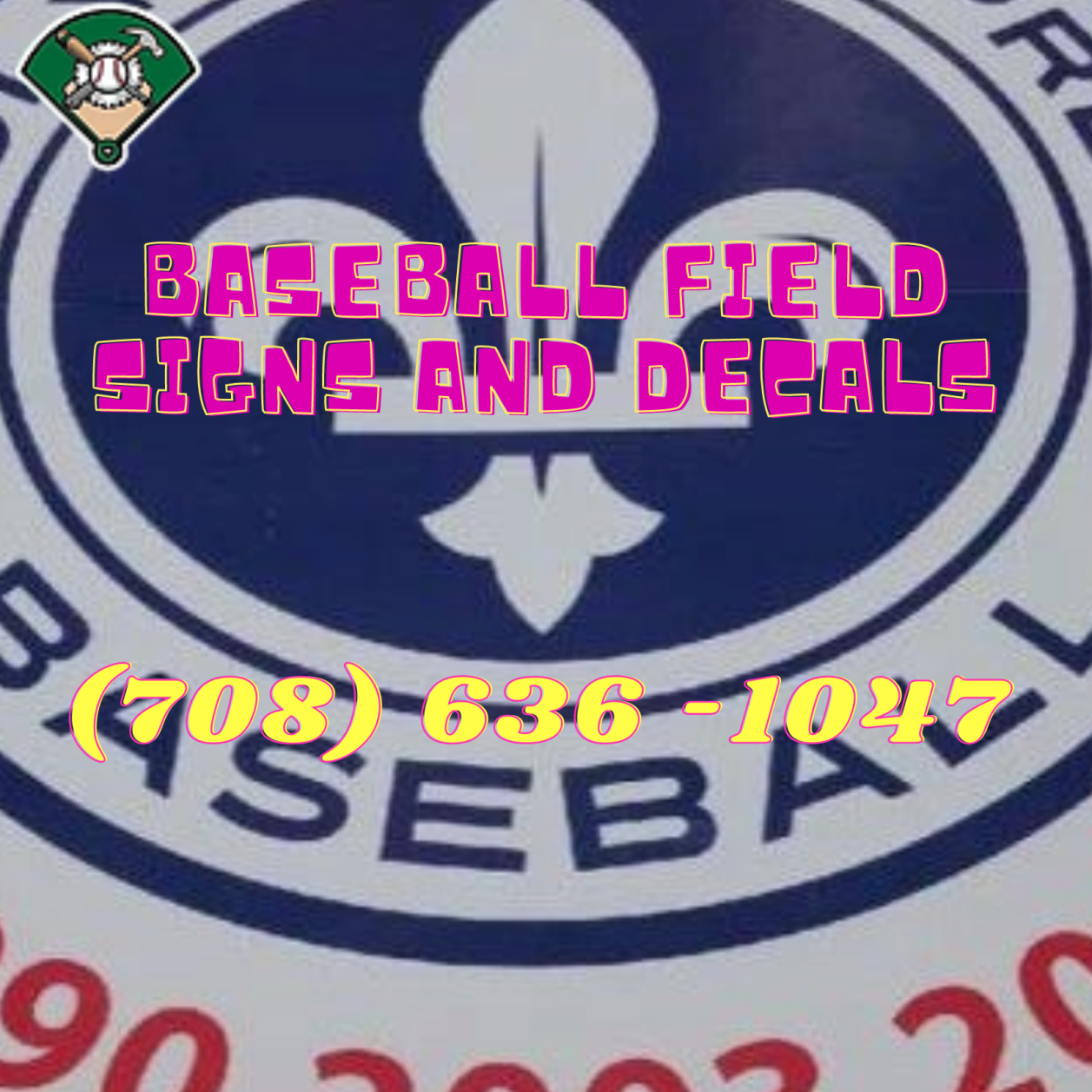 Baseball Field Signs And Decals In 2020 Baseball Decals Baseball Field Baseball