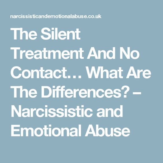 The Silent Treatment And Emotional Abuse