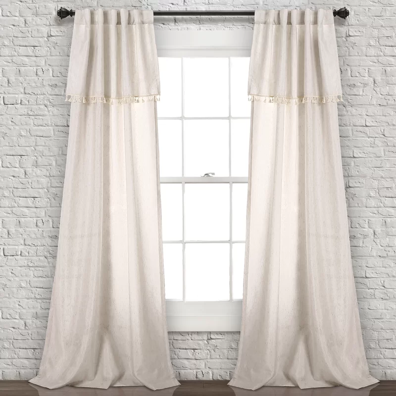 Modern Rustic Interiors Maxwell Tassel Rod Pocket Curtain Panels