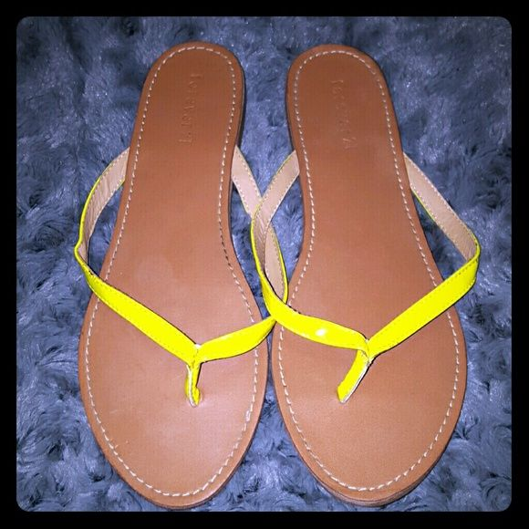 Forever 21 Sandals Neon yellow Forever 21 sandals! Size 9 Forever 21 Shoes Sandals