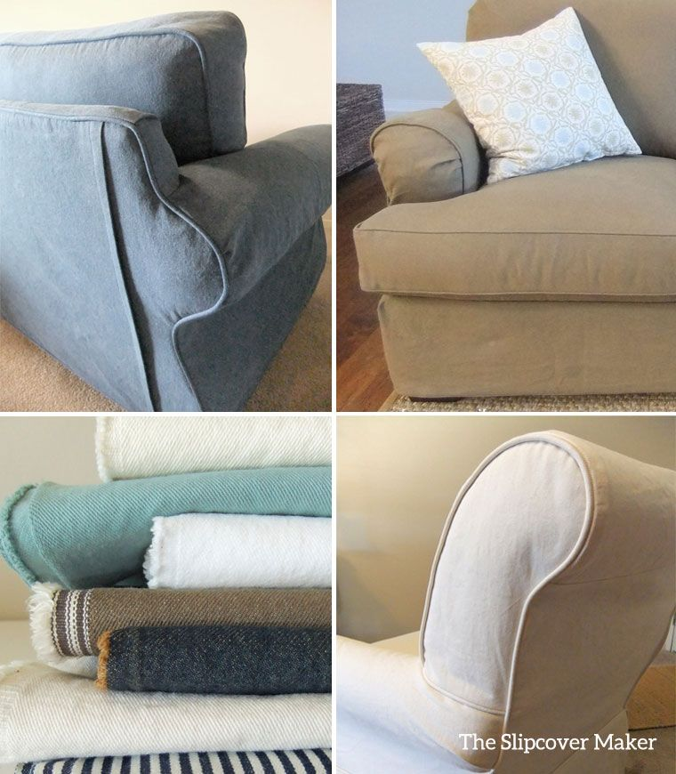 Wondering If Denim Is The Right Fabric For Your Slipcover? Check Out My  Denim Slipcovers
