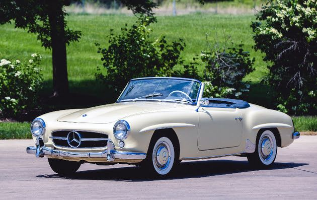 1959 Mercedes-Benz #190SL Convertible. Found on: http://theclassicgavel.blogspot.com. For all your Mercedes Benz 190SL restoration needs please visit us at http://www.bruceadams190sl.com