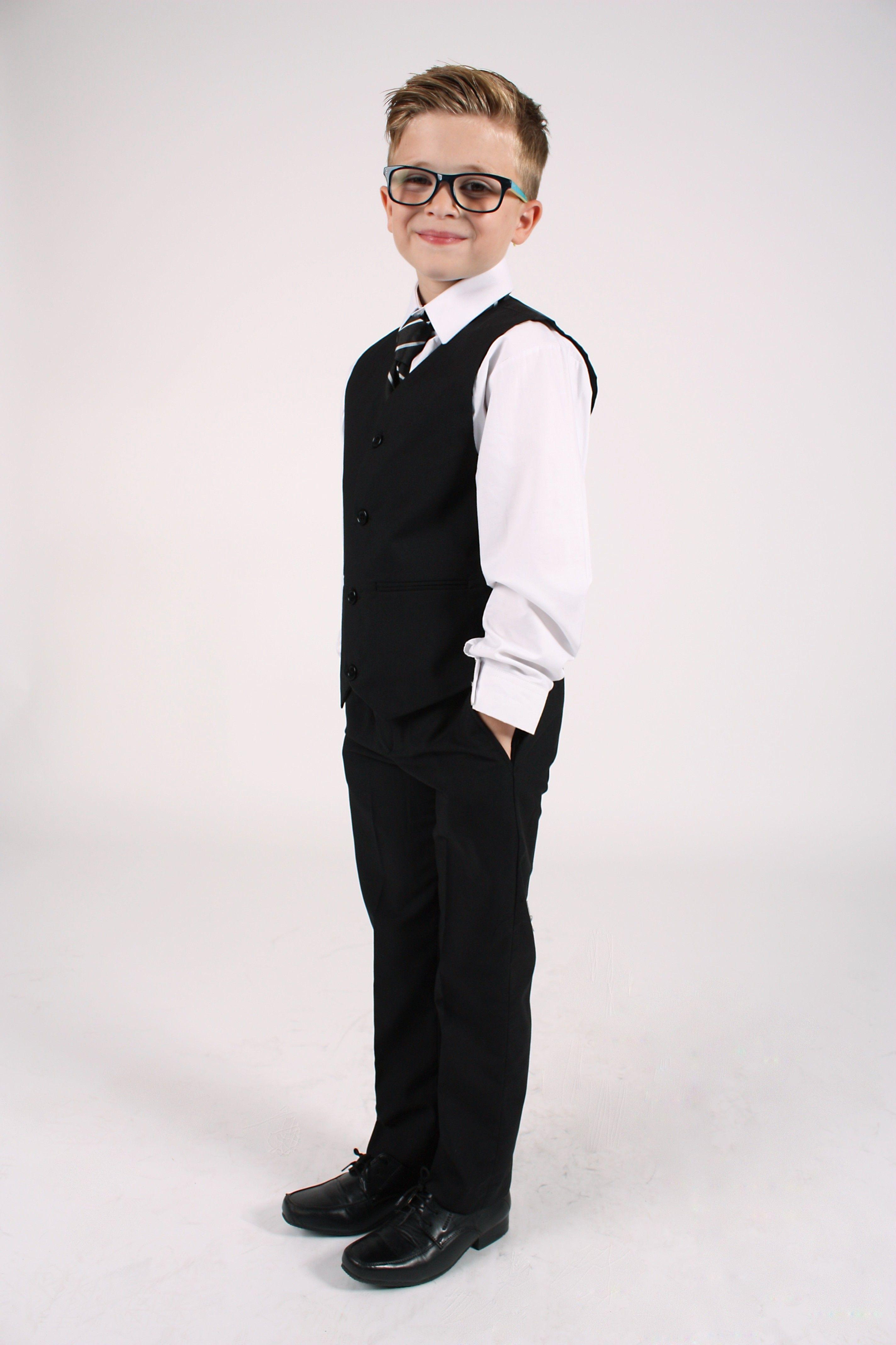 5d9ea025b 5 Piece Bruce Suit in Black - Boys 5 Piece Suits - Boys Suits - Boys ...