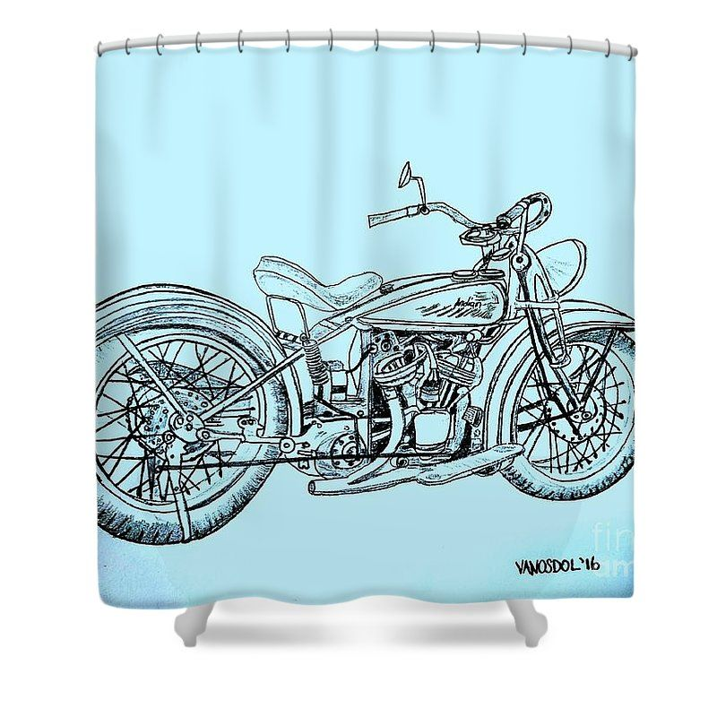 1920 Indian Motorcycle Blue Abstract Background Shower Curtain For Sale By Scott D Van Osdol Custom Choppers Indian Motorcycle Vintage Indian Motorcycles