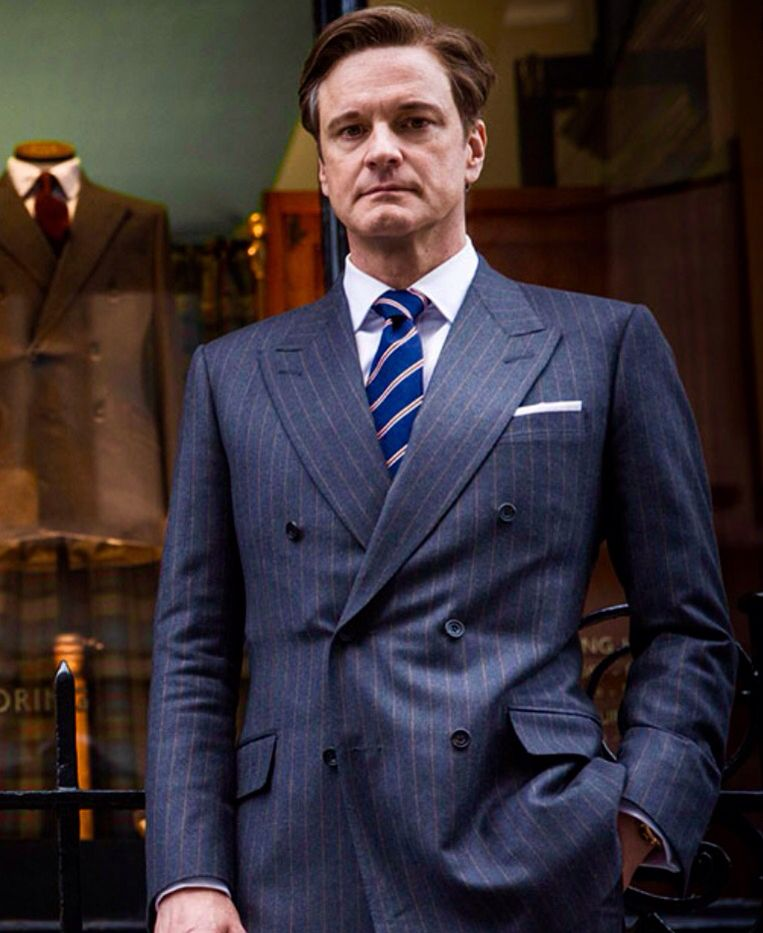 Colin Firth in Kingsman wearing a Holland & Sherry Viceroy Flannel ...