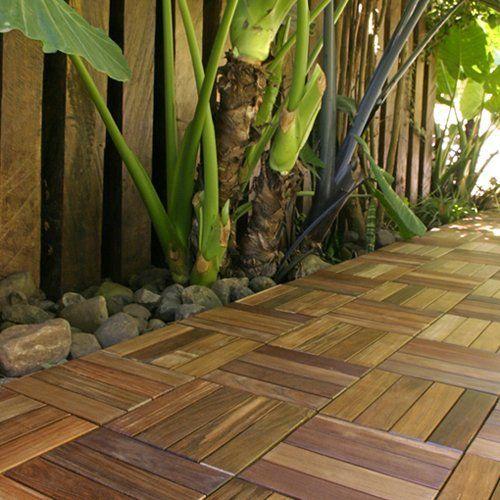 abaco deck tile / patio tile - ipe brazilian walnut (12 tiles)