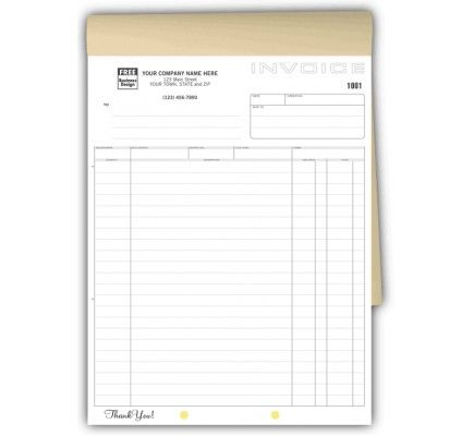 Triplicate Invoice Business Forms 106B Our triplicate invoice - invoice for business