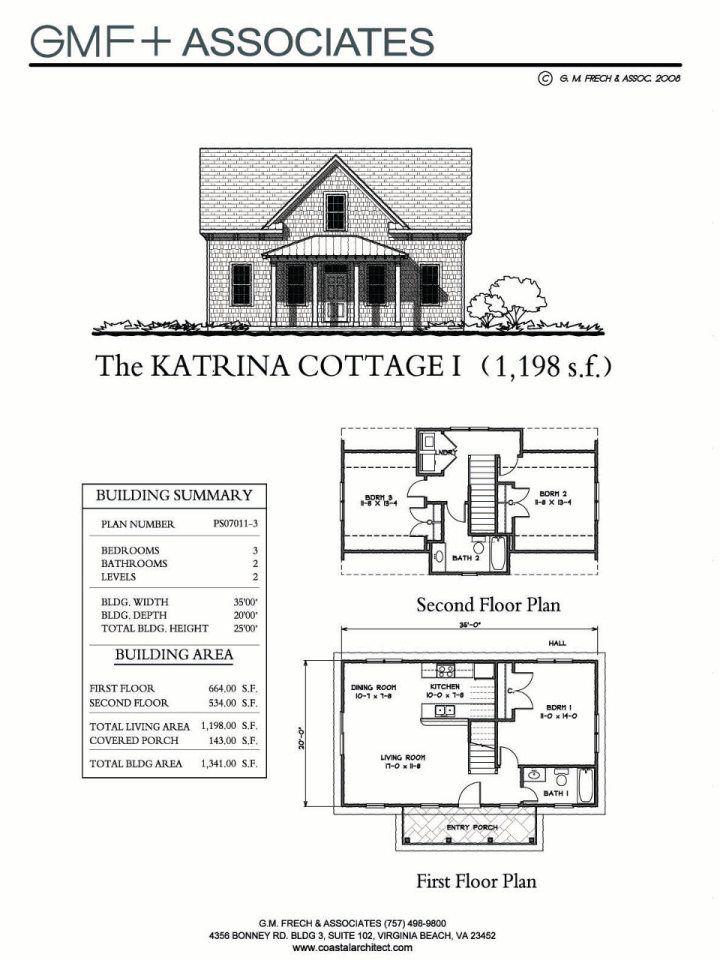 Gallery Katrina Cottage Gmf Associates Cottage Floor Plans Floor Plans Small House Bliss