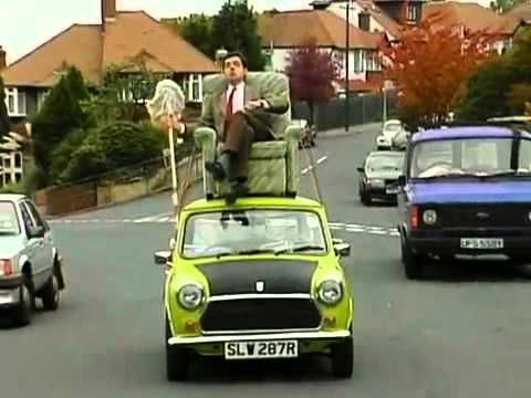 Mr Bean Video Mr Bean Driving On Roof Of A Car Mr Bean Mr Bean Funny Funny Video Clips