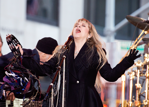 Stevie Nicks, performing with Fleetwood Mac on The Today Show, 10/9/14