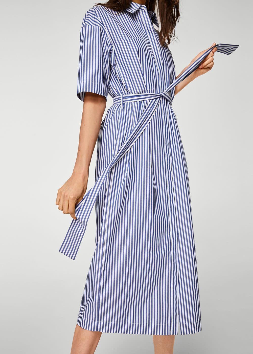 d736b6fff3 Vestido camisero rayas - Vestidos de Mujer