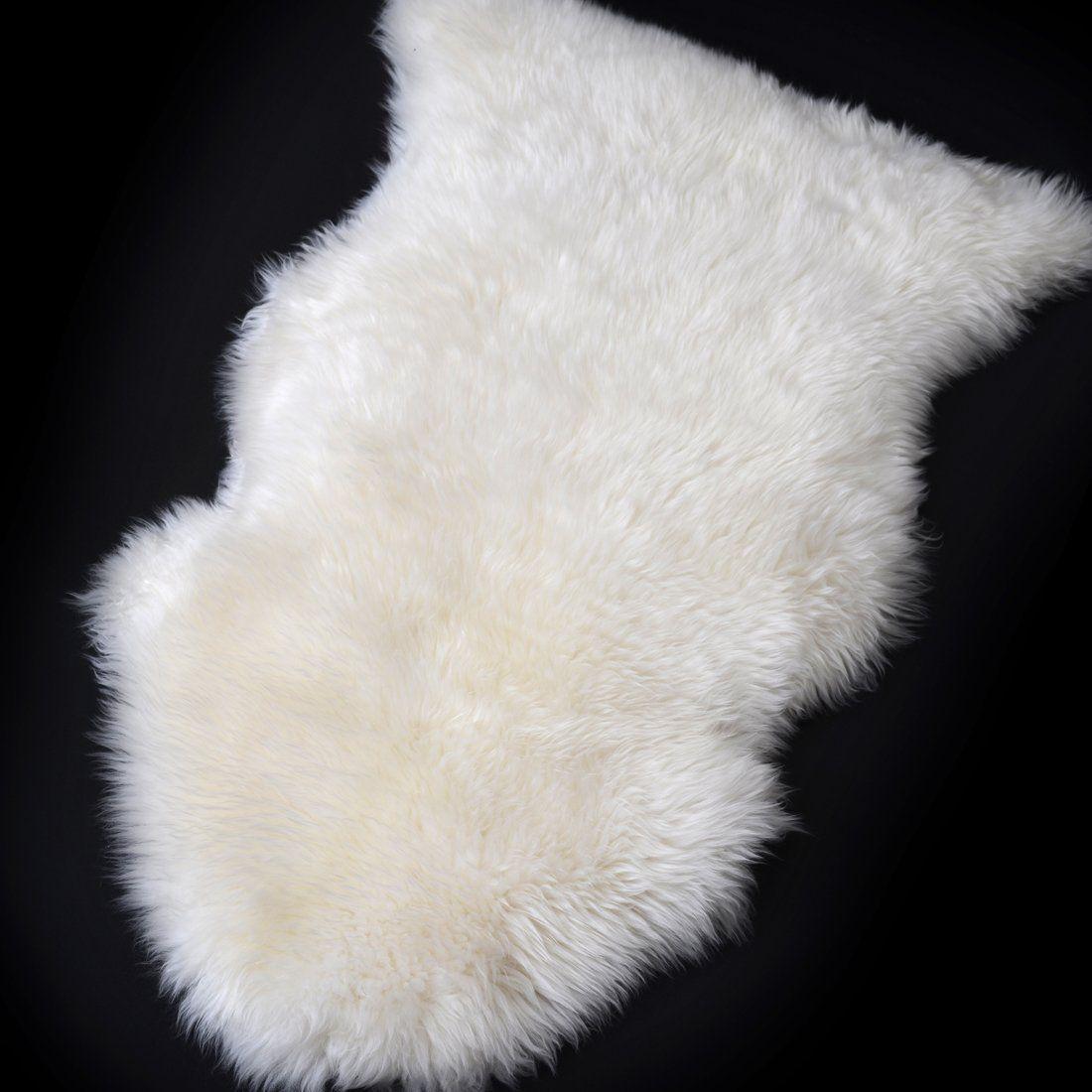 Sheepskin White Fur Rug Single Pelt 2 X 3 White Fur Rug White Sheepskin Rug Fur Rug