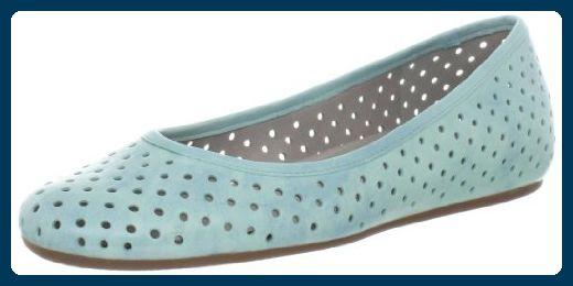 Shoes Owando Perf Ballerina 35609301193, Damen Ballerinas, Grün (Emerald), 38 EU / 5 UK Ecco