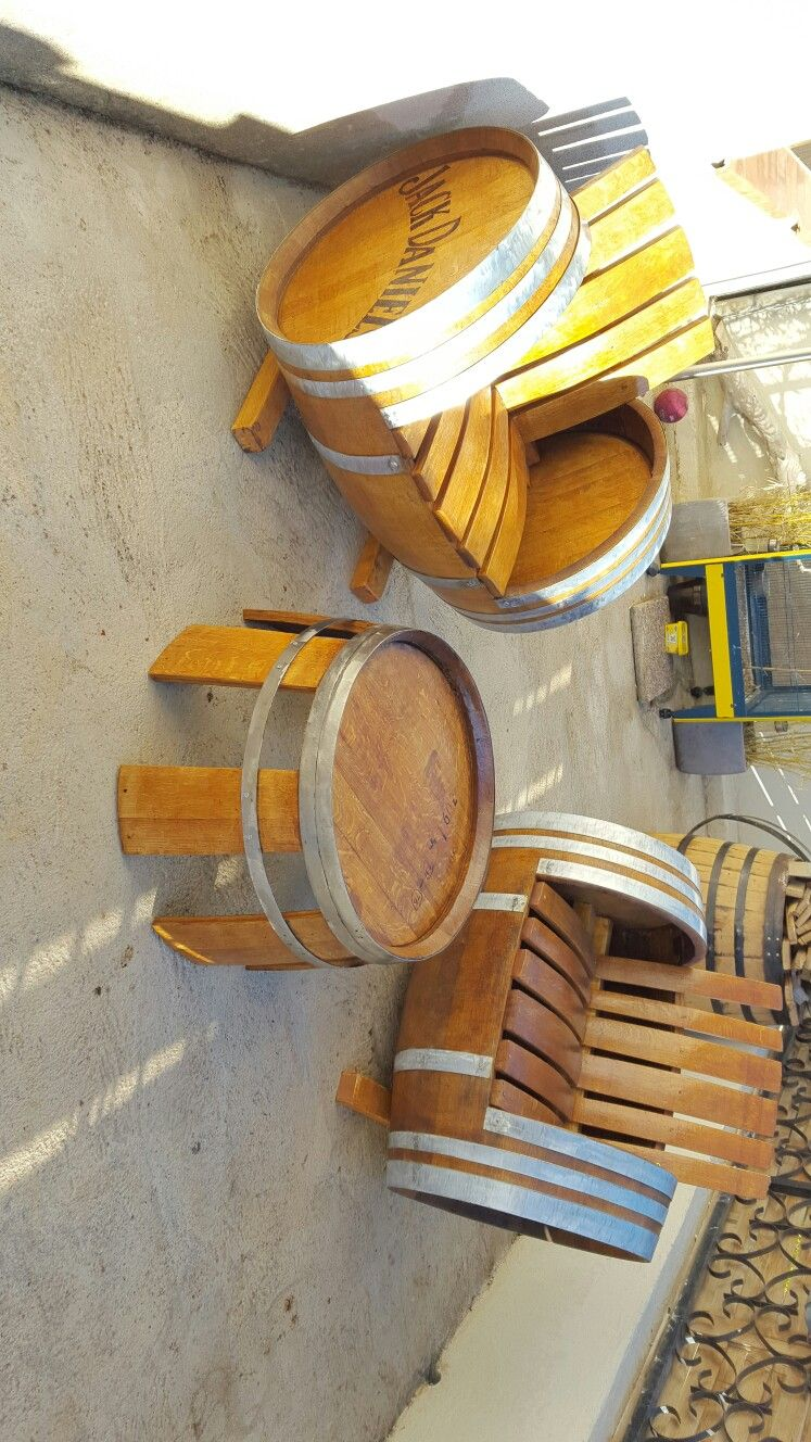 salon de jardin en fut véritable   bois et palettes in 2019   Barrel ...