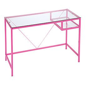 Rose Pink Glass Desk Black Glass Desk Glass Desk Design My Room