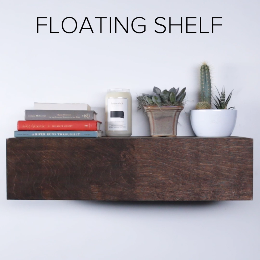 Photo of Floating Shelf : switch so front of shelf is the drawer front and the top is fix…