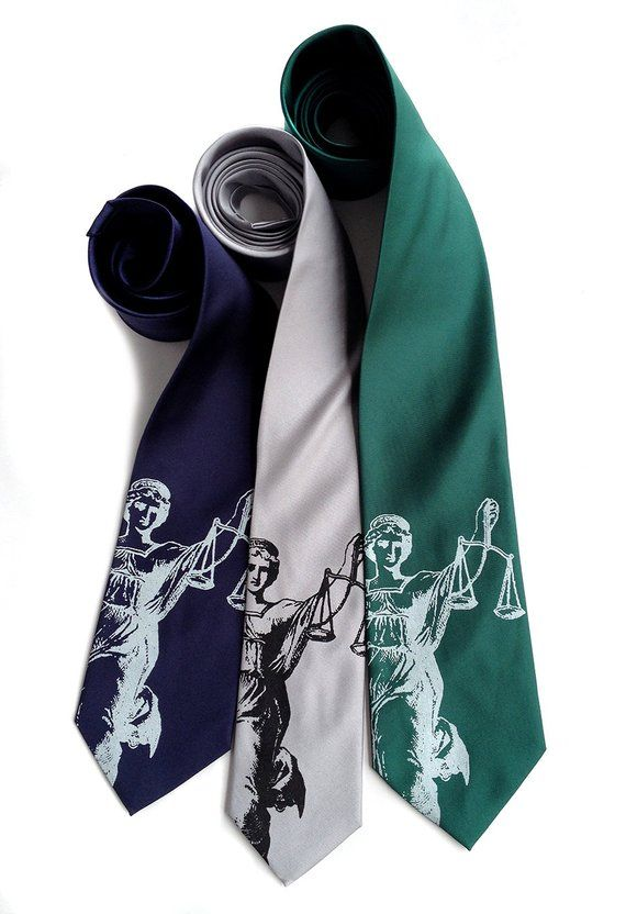 9f48d94b3847a Lawyer Gift. Scales of Justice Necktie. Attorney gift, law school  graduation gift. Judge gift, paral
