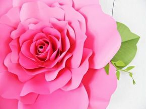 Eden style giant paper rose diy paper and tutorials eden style giant paper rose big paper flowersgiant mightylinksfo