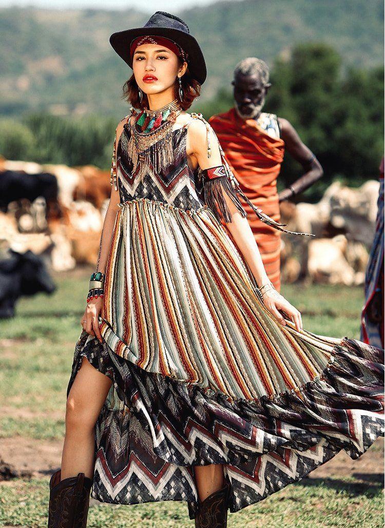 Aporia As Summer Hippie Dress