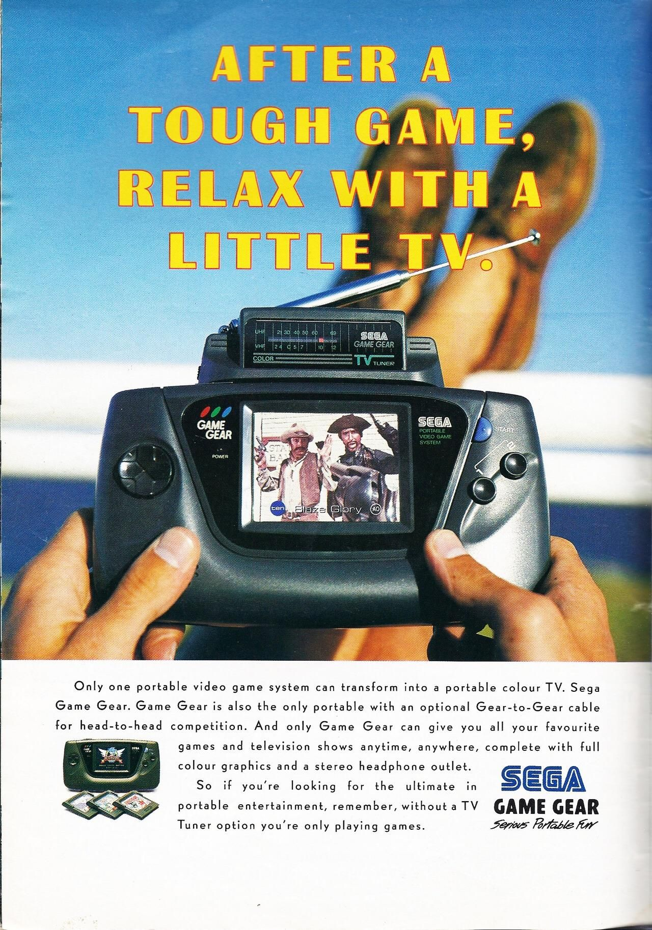 Ad for Sega Game Gears TV tuner (circa early 90s) #vintageads #Ads