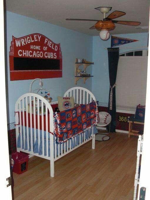 Chicago Cubs Baseball Baby Nursery