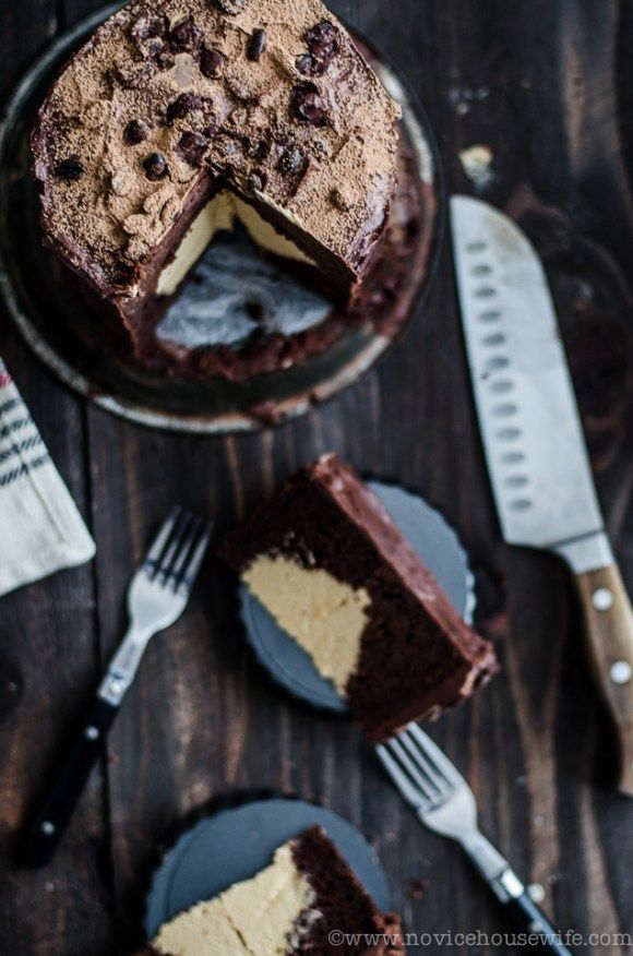 Chocolate Cake With Caramel Coffee Mousse Filling Recipe Chocolate Cake With Coffee Coffee Mousse Cake