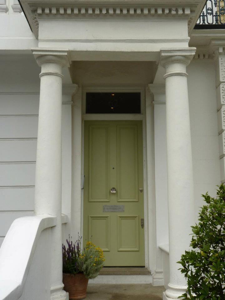 The London Door Company \'Green Smoke\' paint colour - Satin   The ...