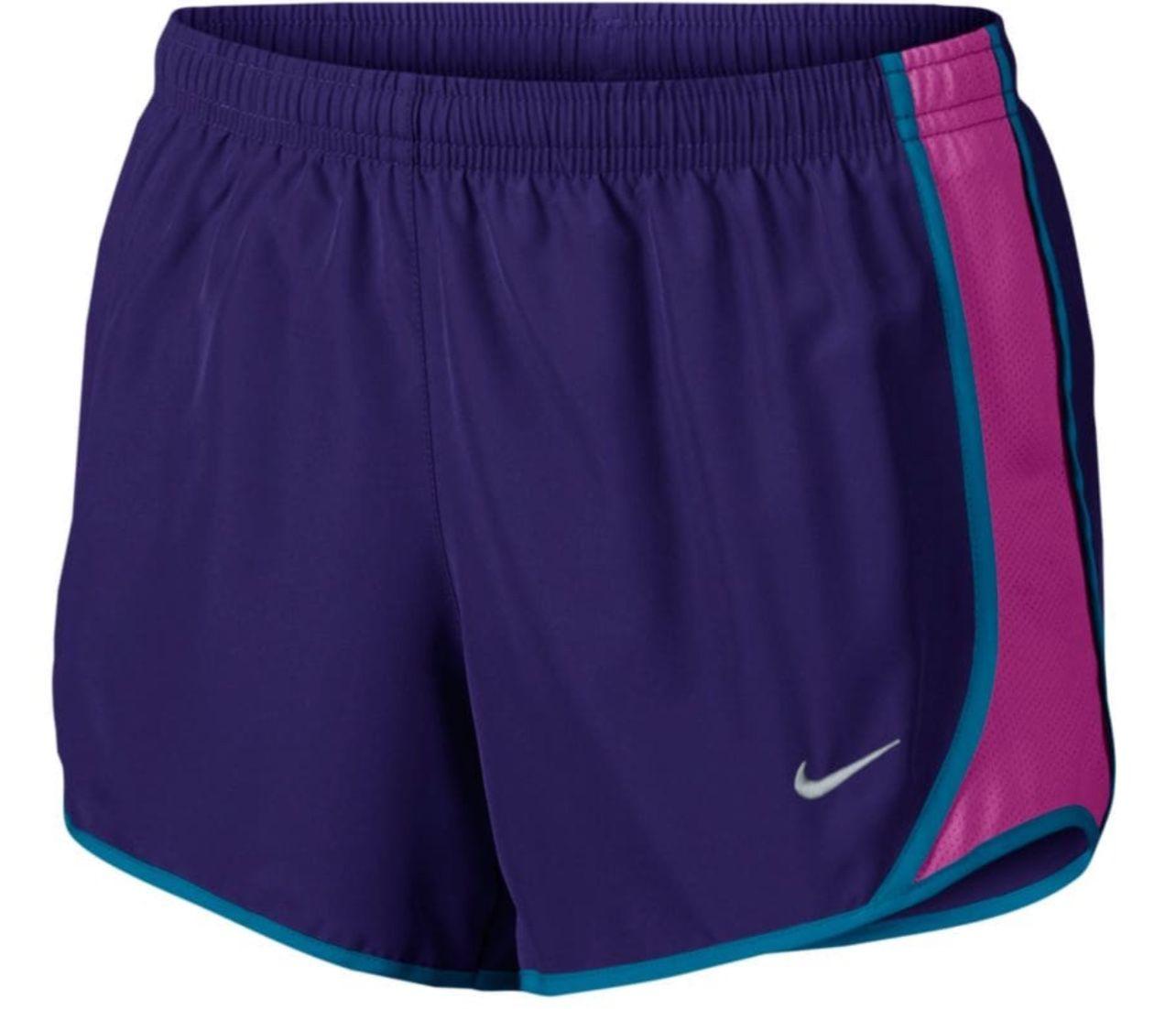 Nike Toddler Girls' purple/blue/violet tempo active shorts