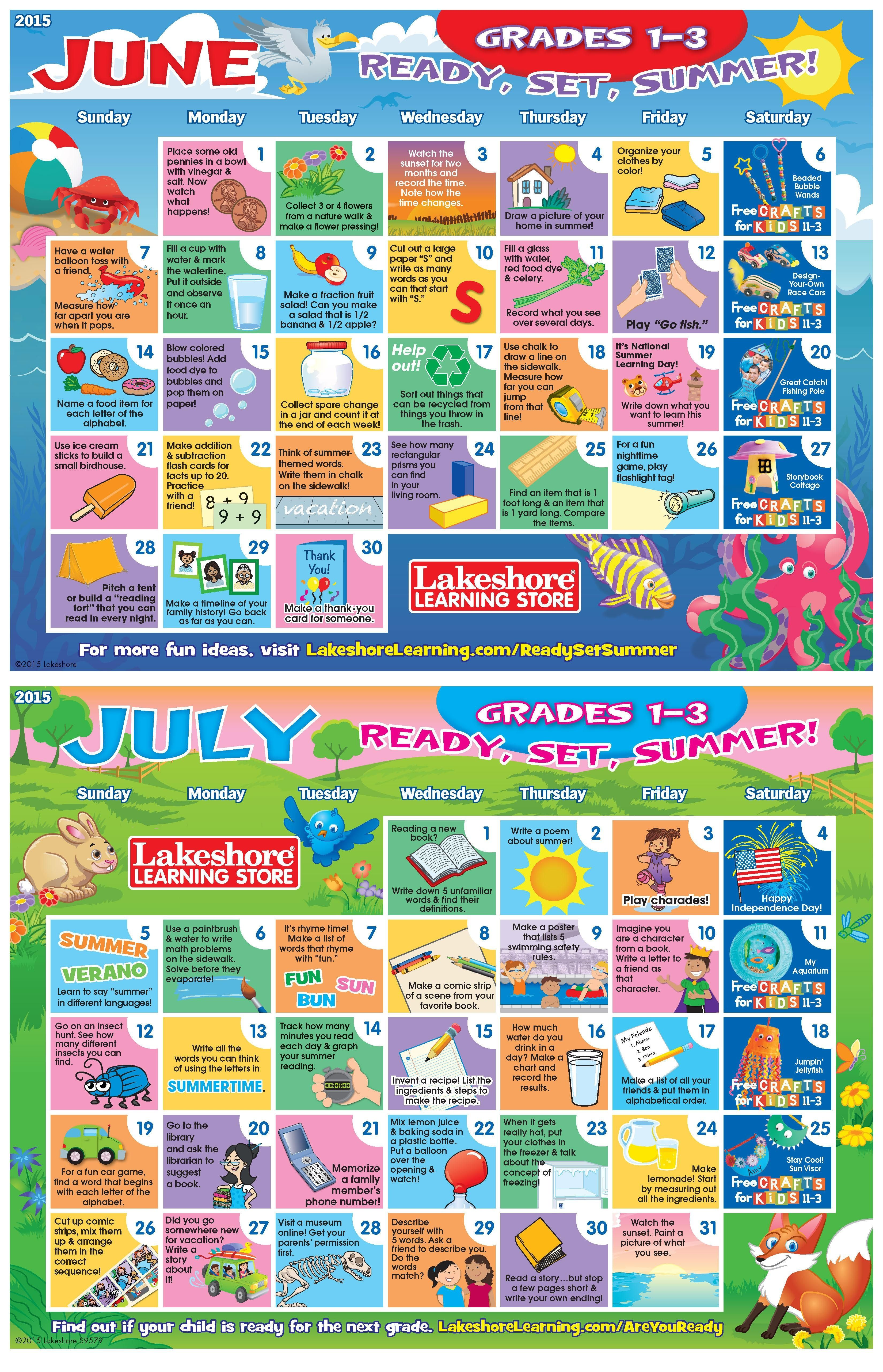 Download Now For Two Months Of Summer Activity Ideas For Grades 1