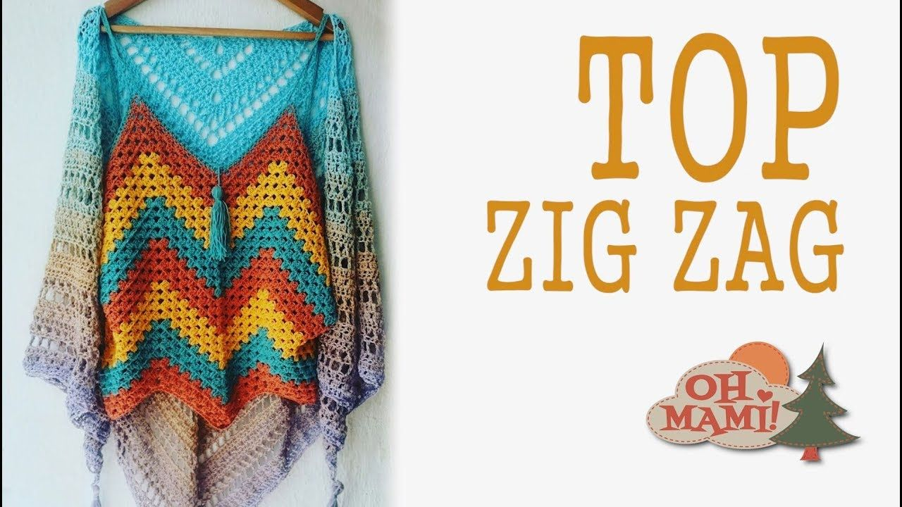 Camiseta Zig Zag a crochet - YouTube | crochet 4 | Pinterest ...