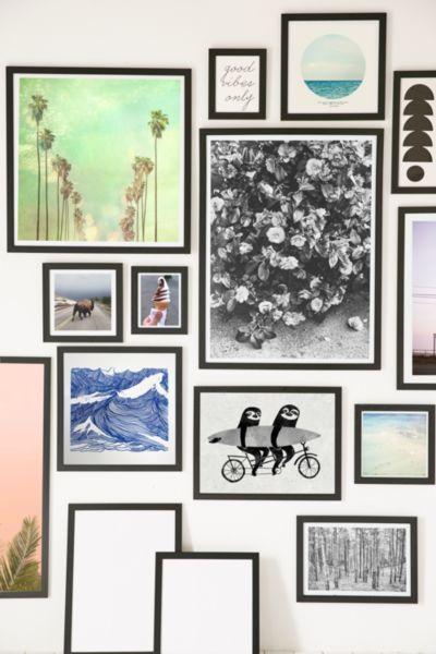 Black matte art print frame urban outfitters