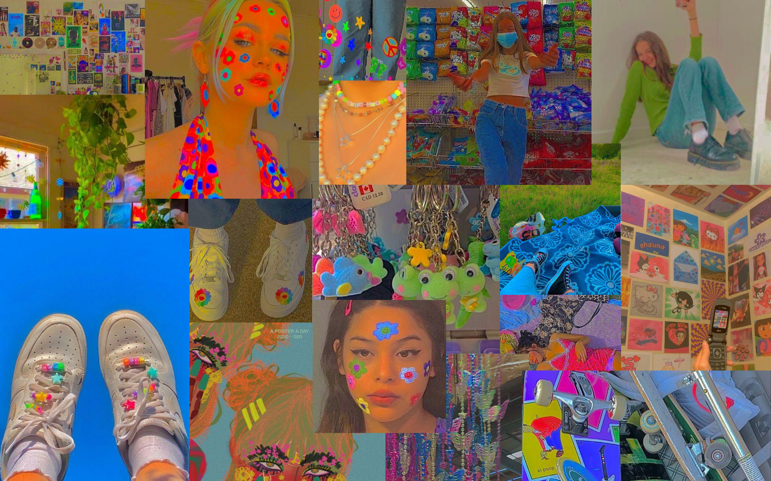 Indie Collage Cute Laptop Wallpaper Iphone Background Wallpaper Cute Patterns Wallpaper