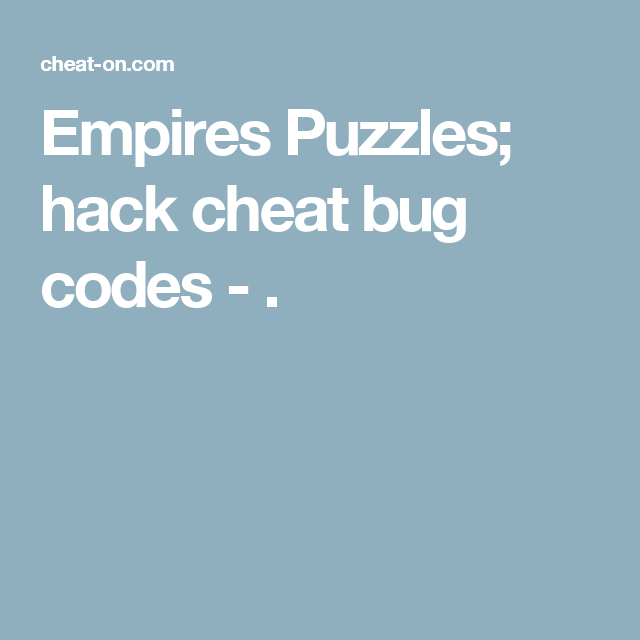 empires and puzzles android hack