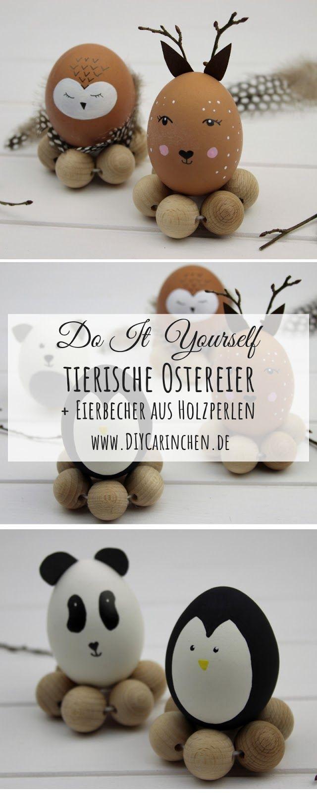 DIY: Tierische Ostereier ganz einfach selber machen / basteln #loisirscréatifs