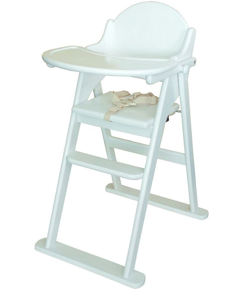 East Coast Nursery Folding Highchair White At Argos Co Uk Your