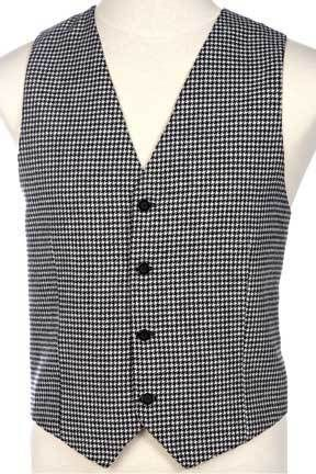 Black and White Houndstooth Mens Wool Vest | Mens and Womens Wool ...