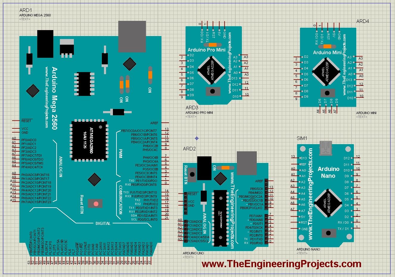 Arduino Library Proteus Simulation For Water Level Indicator Circuit Gadgetronicx