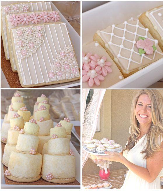 Wedding Mini Dessert Table: Romantic Bridal Shower Ideas