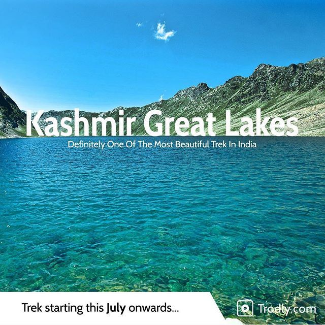 Taking you to pristine sparkling lakes in midst of magestic Kashmir Himalayas. This trek is best way to see the true beauty of Kashmir that lies hidden in the valley inaccessible by road.  It is one of most beautiful Himalayan treks. Starting this July. So pack your rucksacks and get ready.  Want to know further details? Give us a shout, drop in an email to hello@trodly.com or just check the link provided on the profile page.  #Kashmir #J&K #himalaya #trek #greatlakes #nature #getoutside…