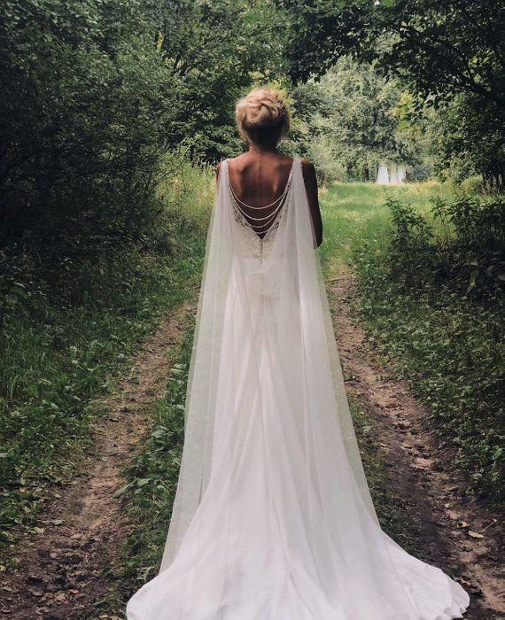 Wedding Cape, Cape Veil, Bridal Cape Veil, Bridal Cape