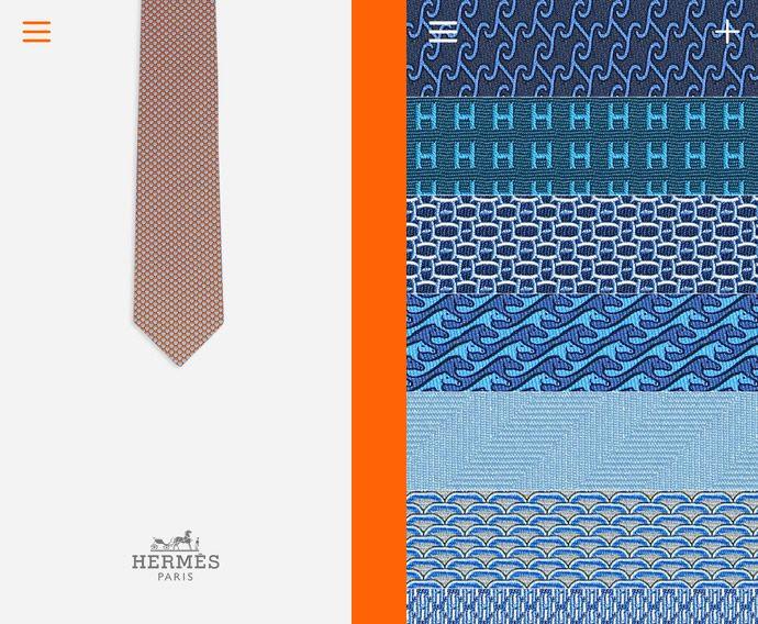 Hermes Mens Tie